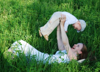 fun games with baby and mother