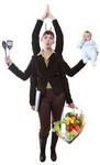 Juggling working mom